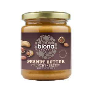 Φυστικοβούτυρο Crunchy με Θαλασσινό Αλάτι 250g | Βιολογικό Vegan | Biona