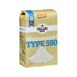 Αλεύρι Σιταριού Λευκό Τ550 1Kg | Βιολογικό Αλεύρι Χωρίς Αλάτι | Bauckhof