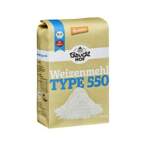White Wheat Flour T550 1Κg | Organic Vegan No Added Salt | Bauckhof
