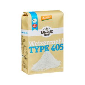 Wheat Pastry Flour T405 1Κg | Organic Vegan No Added Salt | Bauckhof