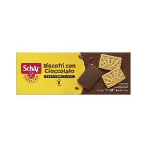 Μπισκότα Βουτύρου Με Επικάλυψη Μαύρης Σοκολάτας Χωρίς Γλουτένη 150g   Γλυκό Σνακ για Υγιεινή Διατροφή   Dr Schar