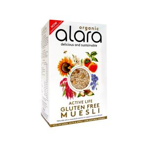 Active Life Muesli with Fruits Nuts and Seeds 250g | Organic Gluten Free Vegan Rich in Protein | Alara