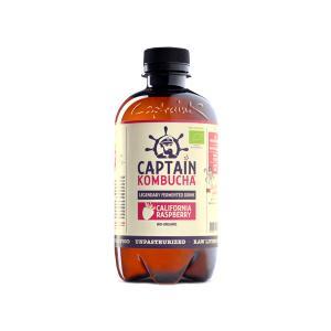 Βιολογικό Ανθρακούχο Ποτό Κομπούχα Γεύση Σμέουρο 400ml | Raw Vegan Κεφίρ Τσαγιού Χωρίς Γλουτένη | Captain Kombucha