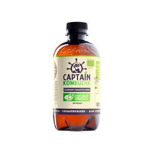 Βιολογικό Ανθρακούχο Ποτό Κομπούχα Γεύση Καρύδα 400ml | Raw Vegan Κεφίρ Τσαγιού Χωρίς Γλουτένη | Captain Kombucha