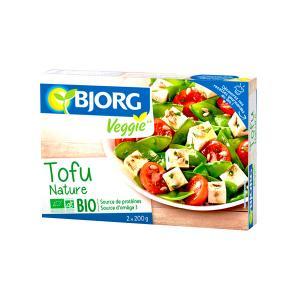 Natural Tofu 2x200g | Organic Vegan High Protein No Added Salt | Bjorg