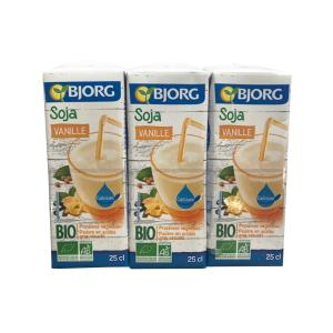 Mini Soy Drink with Vanilla 3x250ml | Organic Vegan Lactose Free | Bjorg