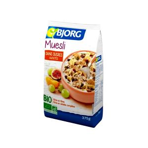 Muesli with Fruits 375g | Organic Vegan No Added Sugar| Bjorg