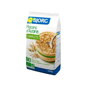 Wholegrain Oat Flakes 500g | Organic Vegan No Added Sugar No Added Salt | Bjorg
