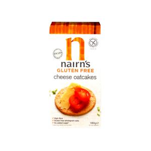 Wholegrain Oatcakes with Cheese 180g | Gluten Free Vegetarian Snack No Added Sugar | Nairn's