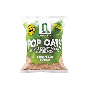 Sour Cream and Chive Pop Oats 20g | Gluten Free Vegetarian Snack | Nairn's