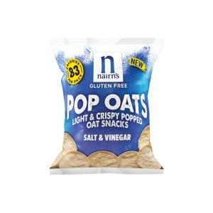 Salt and Vinegar Pop Oats 20g | Gluten Free Vegan Vegetarian Snack | Nairn's