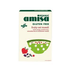 Μούσλι Βρώμης με Φρούτα Χωρίς Γλουτένη 325g | Βιολογικό Vegan Χωρίς Αλάτι | Amisa