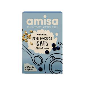 Porridge  Βρώμης Χωρίς Γλουτένη 325g | Βιολογικό Θρεπτικό Vegan Πόριτζ Χωρίς Αλάτι | Amisa