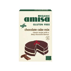Μείγμα για Κέικ Σοκολάτας Χωρίς Γλουτένη 400g | Βιολογικό Vegetarian | Amisa