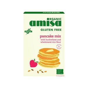Μείγμα για Τηγανίτες και Κρέπες Χωρίς Γλουτένη 2x180g | Βιολογικό Vegan Χωρίς Ζάχαρη | Amisa