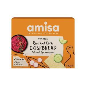 Κράκερς από Ρύζι και Καλαμπόκι 120g | Βιολογικό Σνακ Χωρίς Γλουτένη Χωρίς Ζάχαρη Vegan | Amisa