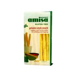 Κριτσίνια από Ρύζι και Καλαμπόκι 100g | Βιολογικό Σνακ Χωρίς Γλουτένη Χωρίς Ζάχαρη Vegan | Amisa