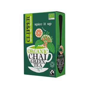 Green Chai Tea Spicy 20 bags 40g | Organic Vegan No Added Sugar | Clipper