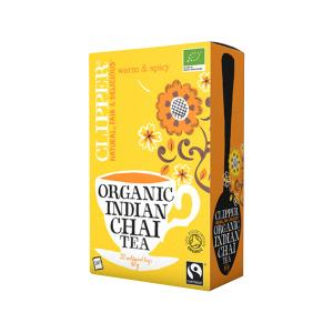 Indian Chai Tea 20 bags 60g | Organic Vegan No Added Sugar | Clipper