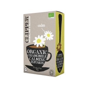 Chamomile Infusion 20 bags 30g | Organic Vegan No Added Sugar | Clipper