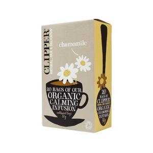 Chamomile Infusion 20 bags 30g | Organic Vegan No Added Sugar | Clipper