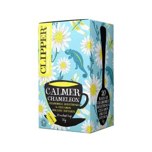 Calmer Chameleon Infusion with Chamomile Honeybush and Cinnamon 20 bags 35g | Organic Vegan No Added Sugar | Clipper