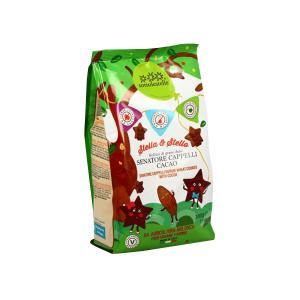 Stella e Stello Biscuits with Cocoa 300g | Organic Lactose Free Vegan Biscuits for Kids | Sottolestelle