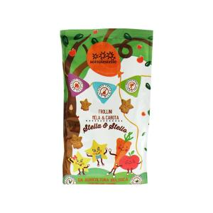 Stella e Stello Biscuits with Apples and Carrots 300g | Organic Lactose Free Vegan Biscuits for Kids | Sottolestelle