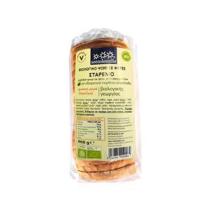 Ψωμί σε Φέτες από Λευκό Αλεύρι Σιταριού 400g | Βιολογικό Χωρίς Ζάχαρη Vegan | Sottolestelle