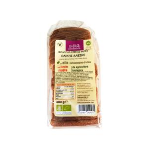 Sliced Bread From Wholewheat Flour 400g | Organic Sugar Free Vegan | Sottolestelle