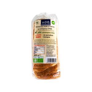 Ψωμί σε Φέτες από Αλεύρι Μαλακού Σιταριού με Σπόρους Chia 400g | Βιολογικό Χωρίς Ζάχαρη Vegan | Sottolestelle