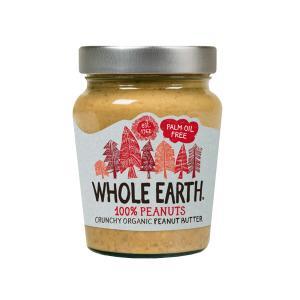 Φυστικοβούτυρο Crunchy Χωρίς Αλάτι 227g | Βιολογικό Χωρίς Γλουτένη Χωρίς Ζάχαρη Vegan | Whole Earth