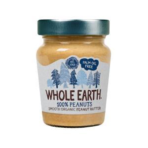 Φυστικοβούτυρο Smooth Χωρίς Αλάτι 227g | Βιολογικό Χωρίς Γλουτένη Χωρίς Ζάχαρη Vegan | Whole Earth