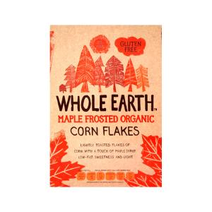 Maple Frosted Flakes 375g | Organic Gluten Free Vegan | Whole Earth