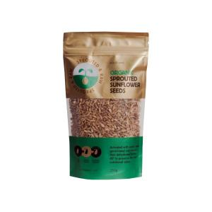 Raw Sprouted Sunflower Seeds 250g | Organic Vegan Gluten Free | Sun & Seed