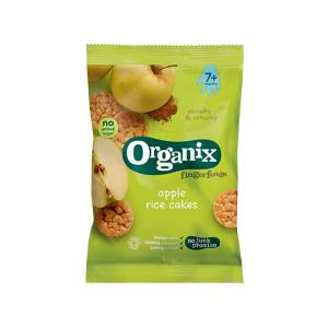 Apple Rice Cakes Fingerfoods 50g | Nutritious Organic Vegan Gluten Free Snack For Kids | Organix