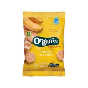 Banana Rice Cakes Fingerfoods 50g | Nutritious Organic Vegan Gluten Free Snack For Kids | Organix