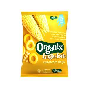 Δαχτυλίδια Καλαμποκιού Fingerfoods 20g | Θρεπτικό Βιολογικό Vegan Σνακ Χωρίς Γλουτένη Για Παιδιά | Organix