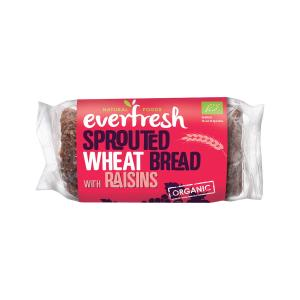 Sprouted Wheat Bread with Raisins 400g | Organic Vegan No Added Salt | Everfresh