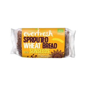 Sprouted Wheat Bread with Sunseeds and Flaxseeds 400g | Organic Vegan No Added Salt | Everfresh