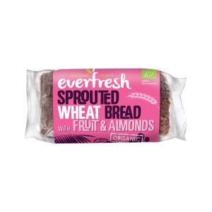 Ψωμί Φύτρου Σιταριού με Αμύγδαλα Σταφίδες και Χουρμάδες 400g | Βιολογικό Χωρίς Αλάτι Vegan | Everfresh