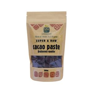 Organic Cacao Paste σε Small Pieces 200g | GreenBay