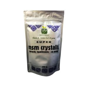 MSM Crystals Plant Based 250g | No Added Sugar No Added Salt Vegan | GreenBay