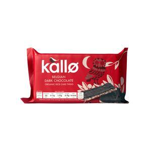 Ρυζογκοφρέτες Λεπτές με Μαύρη Σοκολάτα Βελγίου 90g | Βιολογικό Vegan Σνακ Χωρίς Γλουτένη | Kallo