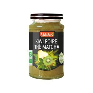 Επάλειμμα Αντιοξειδωτικό Ακτινιδίο Αχλάδι Τσάι Matcha 290g | Βιολογική Μαρμελάδα  Χωρίς Ζάχαρη | Vitabio