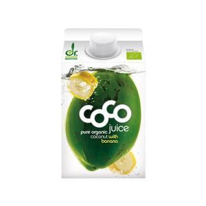 Νερό Άγουρης Καρύδας με Μπανάνα 500ml | Βιολογικό Χωρίς Ζάχαρη  Vegan| Dr.Martins