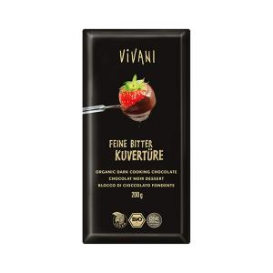 Dark Cooking Chocolate 200g | Organic Vegan | Vivani