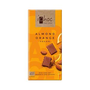 Vegan Chocolate Almond-Orange with Rice Drink 80g | Organic i-choc  Chocolate | Vivani