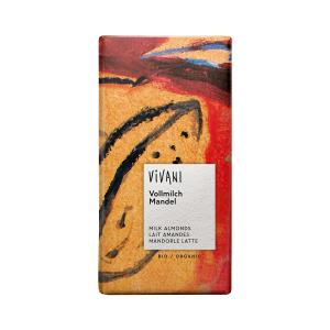 Milk Chocolate with Whole Almonds 100g | Organic Chocolate | Vivani