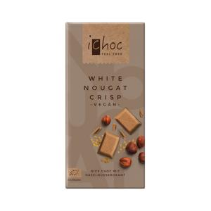 Vegan White Nougat Crisp Chocolate with Rice Drink 80g | Organic i-choc  Chocolate | Vivani